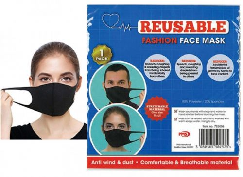 1St Aid Reusable Stretchable Spondex Face Mask - Single